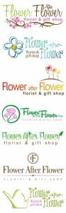 Logo designs for Flower After Flower florist