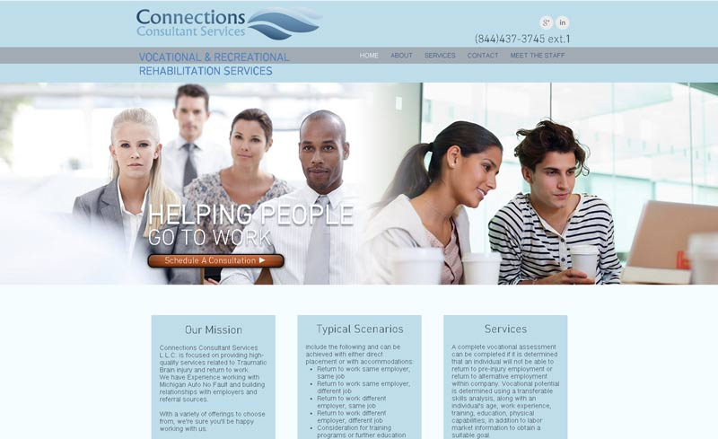 connections website design