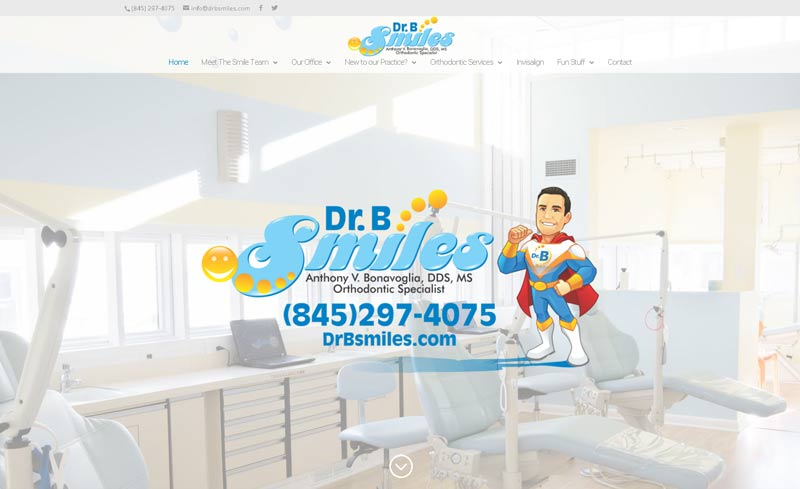 drb smiles website design