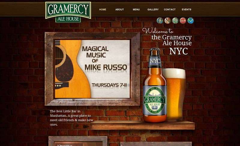 gramercy ale house website design