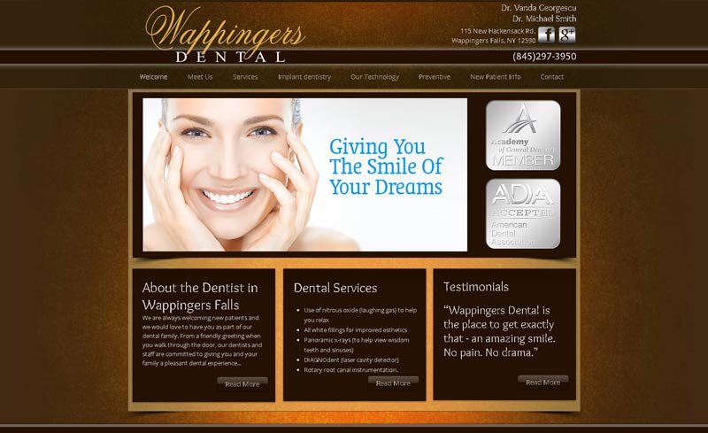 wappingers dental website design